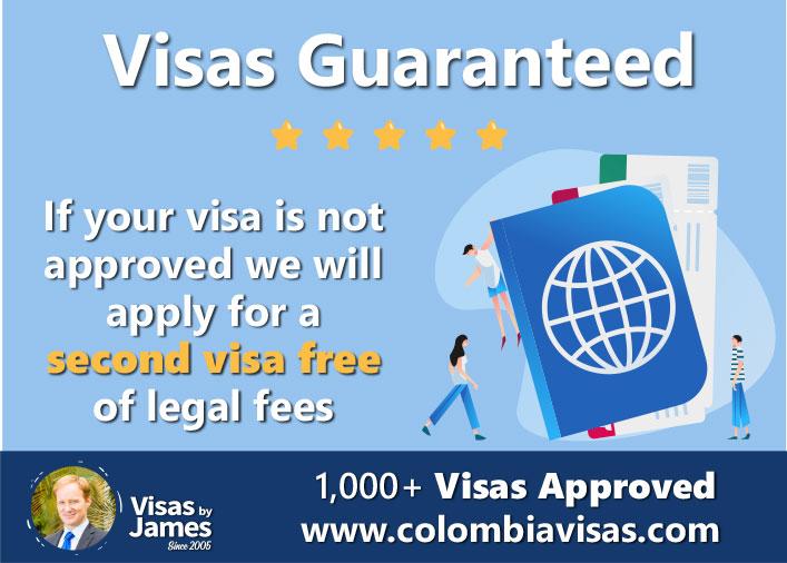 colombia visa guarantee